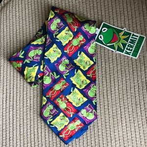 Jim Henson's Kermit Collection 100% Silk Neck Tie